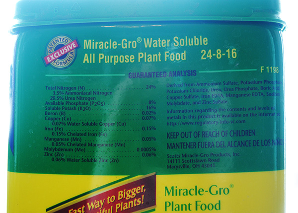 Miracle Gro Water Soluble