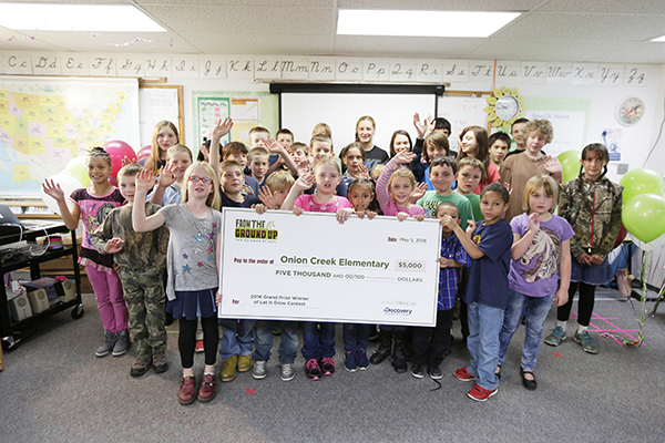 The Nutrients For Life winners event is held at Onion Creek School in Colville, Wash., Thursday, May 5, 2016. (AP Photo/Young Kwak)